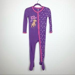 Disney Lion King Nala Purple Footie One Piece Pajamas Full Snap